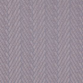 Elba - Iris - A herringbone style design made up of thick diagonal lines on fabric made from 100% polyester in light lavender shades