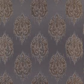Pavilion - Pewter - 100% polyester fabric made in dark elegant grey, with smudged, intricately patterned spots in another dark shade of grey