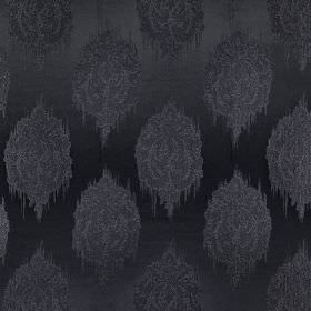 Pavilion - Onyx - Detailed patterns covering smudged spots on fabric made from 100% polyester in black and dark, elegant shades of grey