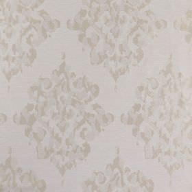 Tunbridge - Champagne - Patchily printed light grey coloured patterns creating a stylish design on pale grey polyester, linen and cotton fab