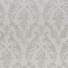 Burlington - Linen - 100% cotton fabric in pale grey, patterned with elegant, sophisticated designs in a slightly darker shade of grey
