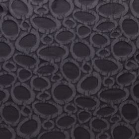 Diagram - Caviar - Black hard wearing fabric covered in hollow grey pebble shapes