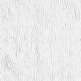 Fold - Gardenia - Hard wearing fabric in white, with a pattern of random wiggling lines