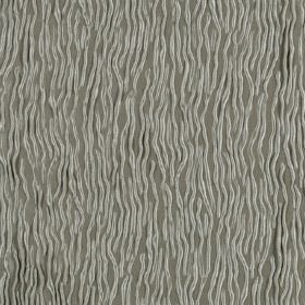 Fold - Drizzle - Green-grey hard wearing fabric covered with a pattern of small, uneven, wavy, light grey lines