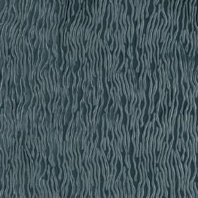 Fold - Sky - Wavy lines which are uneven and light blue against a background of dark turquoise coloured hard wearing fabric