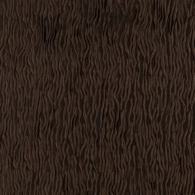Fold - Java - Dark brown lines patterning espresso coloured fabric which is hard wearing in random waves