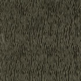 Fold - Brindle - Random wavy grey lines over a very dark grey hard wearing fabric background