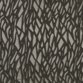 Craft - Bungee - Random, tangled black lines on a grey hard wearing fabric background