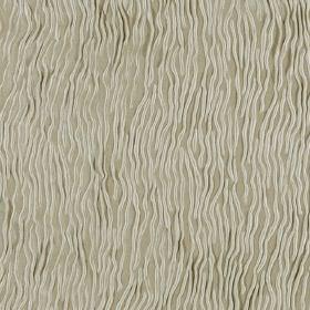 Fold - Ecru - Cream lines with random waves patterning a light grey-green fabric which is hard wearing