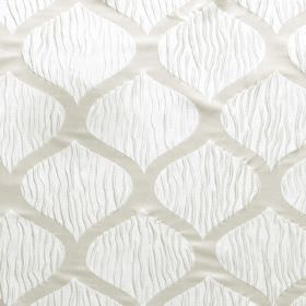 Kirigami - Cloud - White hard wearing fabric featuring a pattern of wavy lines in two different styles