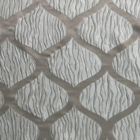 Kirigami - Cobblestone - Two different styles of wavy lines combined in this hard wearing fabric, made up in different shades of grey