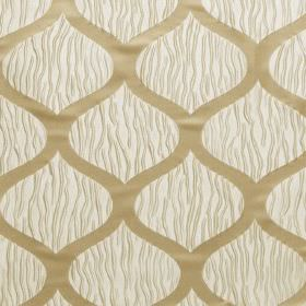 Kirigami - Navajo - Wavy lines in two different styles and shades of gold on a background of cream coloured hard wearing fabric