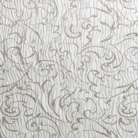 Pleat - Cinder - Grey swirls patterning a hard wearing white fabric with wiggling white lines
