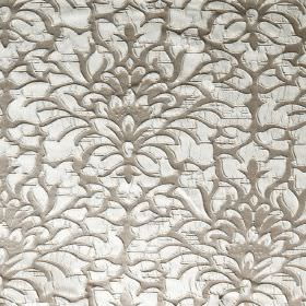 Shape - Payote - A large, white, ornate floral pattern raised on grey coloured hard wearing fabric