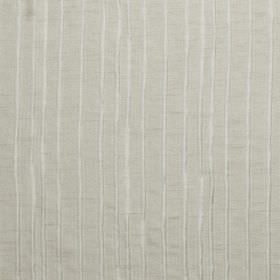 Crepe - Pumice - Light grey fabric which is hard wearing, with a vertically striped pattern in shimmering white