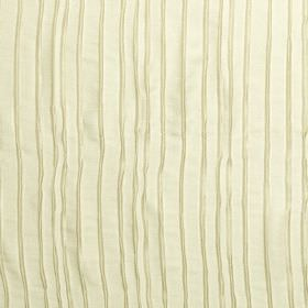 Crepe - String - Uneven dark cream stripes running down a light cream fabric which is hard wearing