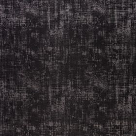 Miami - Pirate Black - A few light grey patches finishing striking black polyester and viscose blend fabric