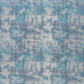 Miami - Atoll - Polyester and viscose blend fabric finished with a patchily coloured effect in white and two bright shades of blue