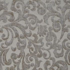 Liberty - Latteo - A large, textured grey pattern of swirls on light grey hard wearing fabric