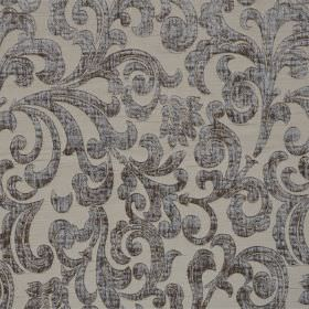 Liberty - Sable - Slightly mottled pewter coloured swirls on a light grey hard wearing fabric background