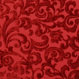 Liberty - Rosso - Slightly textured deep red swirls patterning hard wearing fabric in bright red