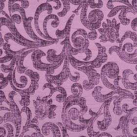 Liberty - Violetta - Fabric which is hard wearing, with a pattern of slightly raised, textured swirls, in two similar shades of light purple