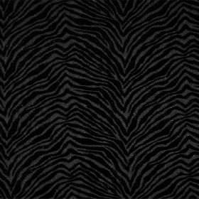 Leonardo - Nero - Black and grey zigzagging animal stripes on hard wearing fabric
