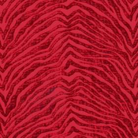 Leonardo - Rosso - Shimmering, textured, zigzagging animal stripes on a bright red fabric which is hard wearing