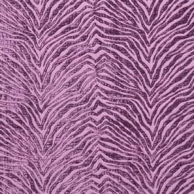 Leonardo - Violetta - Textured dark purple zigzagging animal stripes on a plain light purple hard wearing fabric background