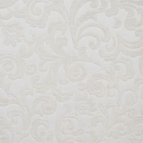 Liberty - Almondie - White hard wearing fabric with a very subtle pattern which is swirled, slightly raised and textured
