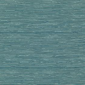 Reflection - Surf - Fabric made from deep turquoise coloured cotton and polyester, featuring thin horizontal streaks in white