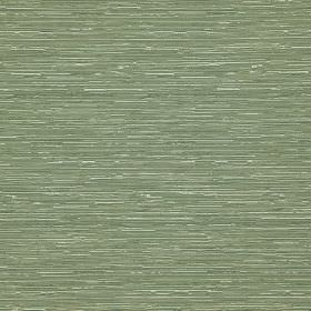 Reflection - Thyme - White and light, dusky green coloured, horizontally streaked, cotton and polyester blend fabric