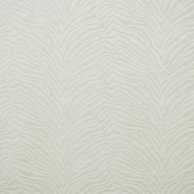 Leonardo - Almondie - Ivory coloured hard wearing fabric with textured, zigzagging animal stripes