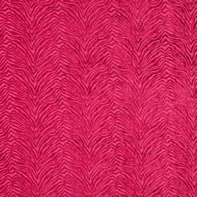 Leonardo - Caldo Rosa - Bright pink hard wearing fabric with an animal stripe design which is zigzagging and textured