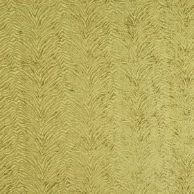 Leonardo - Cedro - Green-gold coloured textured animal stripes zigzagging across fabric which is hard wearing