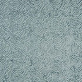 Leonardo - Artico - Zigzagging animal stripes which are textured, on a hard wearing fabric in duck egg blue