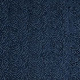 Leonardo - Orizzonte - Zigzagging, animal stripe fabric which is hard wearing and navy blue in colour