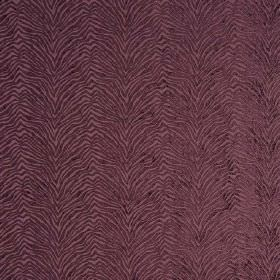 Leonardo - Notturno - Hard wearing fabric in dusky purple, with a textured, zigzagging animal stripe pattern