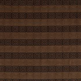 Rhytmo - Cashew - Square print, horizontally striped fabric in four different shades of brown