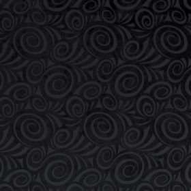Rumba - Onyx - Black and grey swirl print fabric