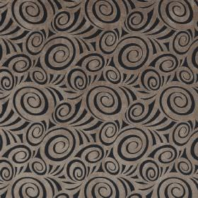 Rumba - Lark - Black swirls patterning the top of light brown coloured fabric