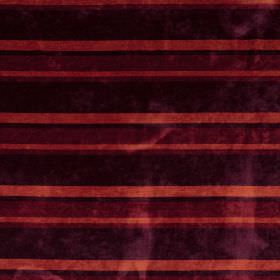 Tango - Berry - Dark purple, dark red and burnt orange coloured horizontally striped fabric