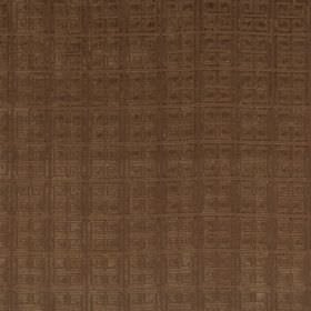 Bolero - Cashew - Brown fabric with a very subtle pattern of squares and angular swirls