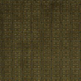 Bolero - Boa - Black squares and angular shapes on a forest green coloured fabric background
