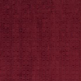 Bolero - Berry - Luxurious dark red fabric with a repeated pattern of squares