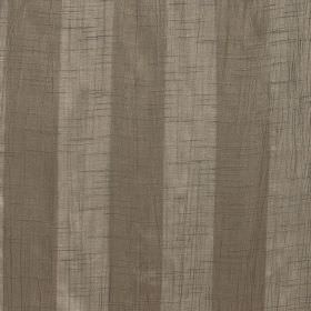 Soho - Chinchilla - Brown and pewter coloured fabric made from polyester with a vertical striped design