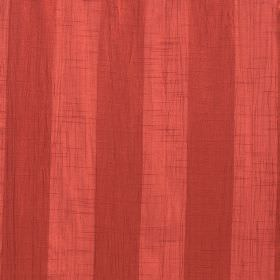 Soho - Pumpkin - Light red and claret coloured vertical stripes making up a design on 100% polyester fabric