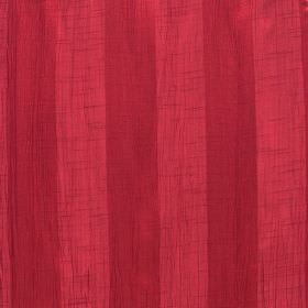 Soho - Strawberry - Striped fabric made entirely from polyester in two different shades of red: scarlet and ruby