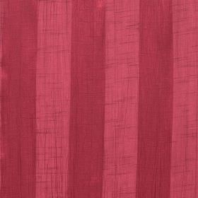 Soho - Garnet - Even stripes in two different shades of raspberry patterning fabric made from polyester