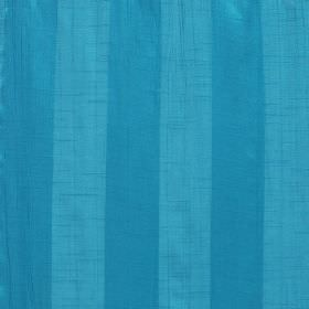 Soho - Mosaic - Sky blue coloured polyester fabric interspersed with evenly spaced cobalt blue coloured stripes